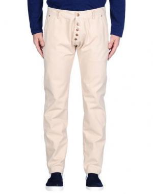 Джинсовые брюки (M) MAMUUT DENIM. Цвет: бежевый