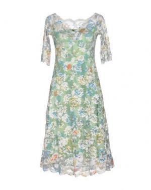 Платье до колена OLVI'S. Цвет: светло-зеленый