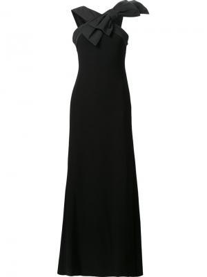 Длинное платье с бантом спереди Boutique Moschino. Цвет: чёрный