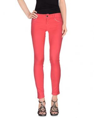 Джинсовые брюки FLY GIRL. Цвет: коралловый