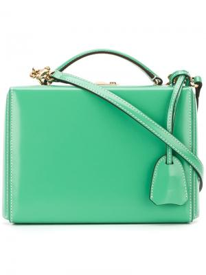Мини сумка-футляр через плечо Mark Cross. Цвет: зелёный