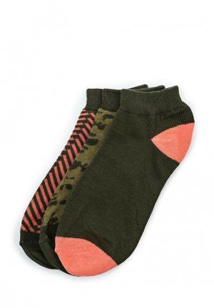 Комплект носков 3 пары Blend. Цвет: зеленый