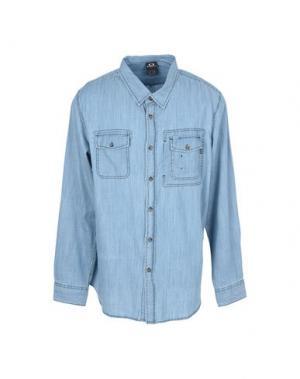 Джинсовая рубашка OAKLEY. Цвет: синий