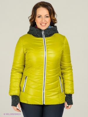 Куртка Alisa Line. Цвет: салатовый