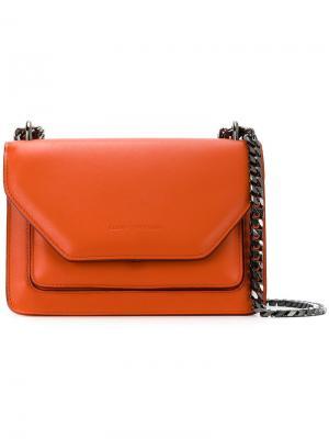Layered straps shoulder bag Elena Ghisellini. Цвет: жёлтый и оранжевый