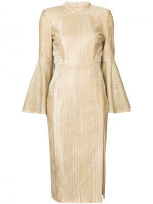 Платье-миди Cancun Rebecca Vallance. Цвет: металлический