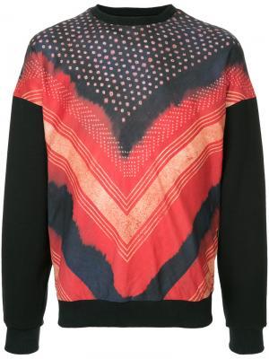 Shibori printed sweatshirt Yoshiokubo. Цвет: многоцветный