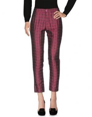 Повседневные брюки LOU LONDON. Цвет: пурпурный