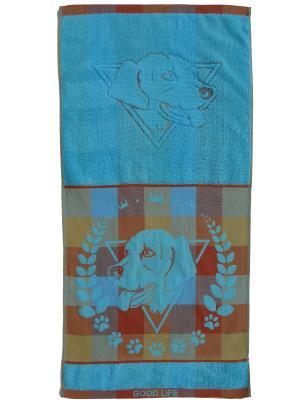 Полотенце банное A and C Collection. Цвет: голубой