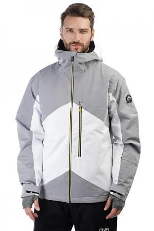 Куртка утепленная  Stencil Snow White Quiksilver. Цвет: белый,серый