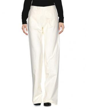 Повседневные брюки GOLD CASE. Цвет: слоновая кость