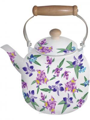 Чайник эмалированный 7л. BOHMANN. Цвет: темно-фиолетовый