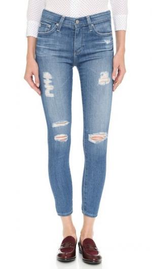 Укороченные джинсы-скинни Farrah с высокой посадкой AG. Цвет: 14 year open air