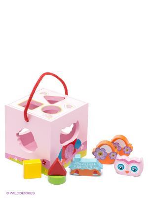 Сортер Волшебный кубик MAPACHA. Цвет: розовый, красный