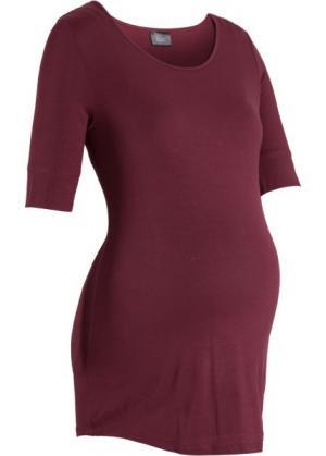 Мода для беременных: базовая футболка с рукавом до локтя (кленово-красный) bonprix. Цвет: кленово-красный