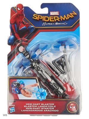 Бластеры человека-паука,стреляющие пластиковой паутиной Spider-Man. Цвет: синий, серый, темно-красный