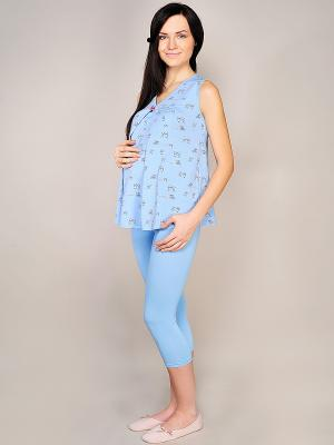Пижама Hunny Mammy. Цвет: голубой