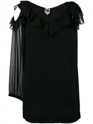 Блузка с вырезами и оборками  IM Isola Marras I'M. Цвет: чёрный