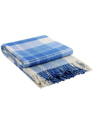 Плед Эльф, 140х200, рап.2 VLADI. Цвет: белый, голубой, темно-синий
