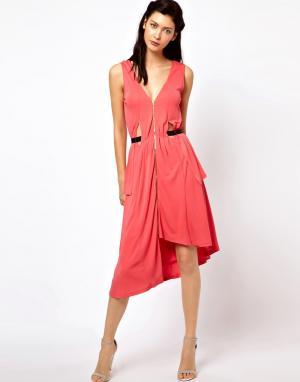 Sophia Kokosalaki Платье с драпировкой и боковыми вставками Kore by. Цвет: розовый