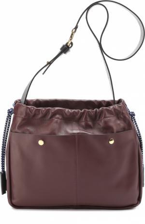 Сумка Swing с внешними карманами Marni. Цвет: бордовый