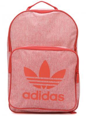 Рюкзак с логотипом в стиле оверсайз Adidas. Цвет: розовый и фиолетовый
