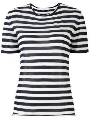 Полосатая футболка Giada Benincasa. Цвет: синий