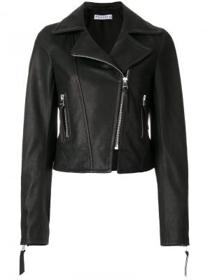 Байкерская куртка JW Anderson. Цвет: чёрный