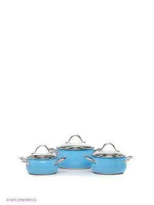 Набор посуды Winner. Цвет: голубой