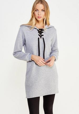 Платье TrendyAngel. Цвет: серый