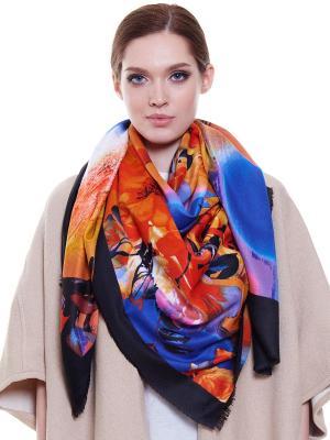 Платок Ribello. Цвет: черный, оранжевый, синий