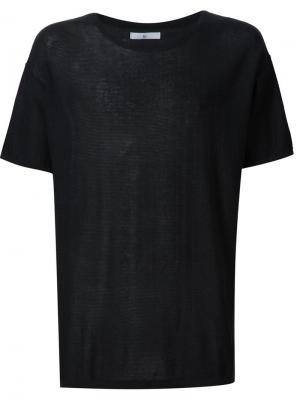 Трикотажная футболка 321. Цвет: чёрный