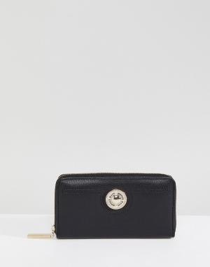 Versace Кошелек на молнии Jeans. Цвет: черный