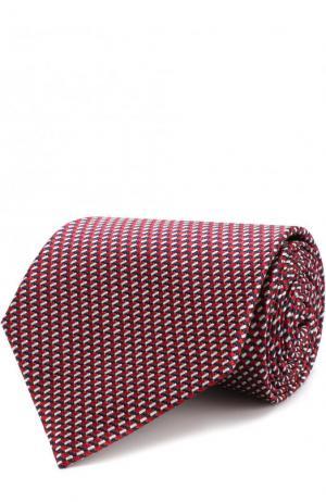 Шелковый галстук Ermenegildo Zegna. Цвет: красный