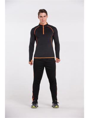 Брюки спортивные Vansydical MBF065. Цвет: черный,оранжевый