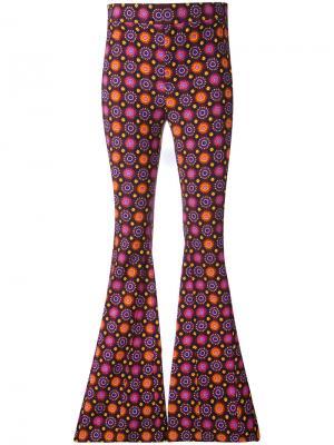 Расклешенные брюки с психоделическим принтом Givenchy. Цвет: розовый и фиолетовый