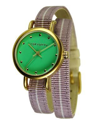 Часы TOKYObay. Цвет: сиреневый, зеленый