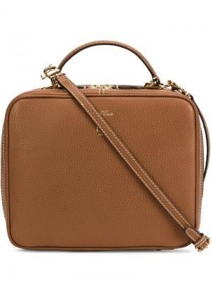 Zipped box bag Mark Cross. Цвет: коричневый