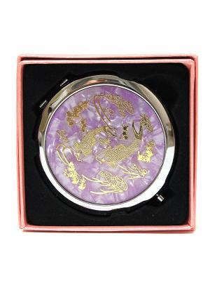 Зеркальце карманное Eleon. Цвет: фиолетовый
