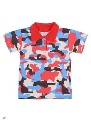 Рубашка-поло Babycollection. Цвет: красный, бежевый