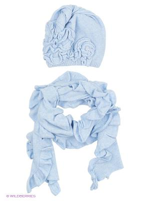 Шапка; шарф MARIELA. Цвет: голубой