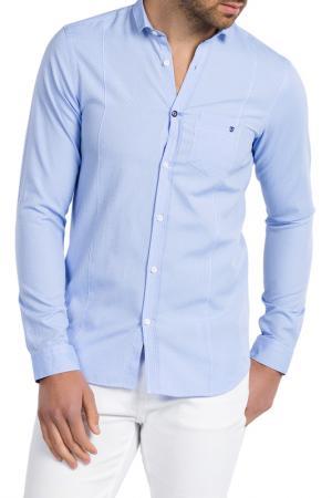 Рубашка JIMMY SANDERS. Цвет: голубой
