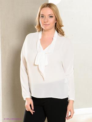Блузка LE MONIQUE. Цвет: белый