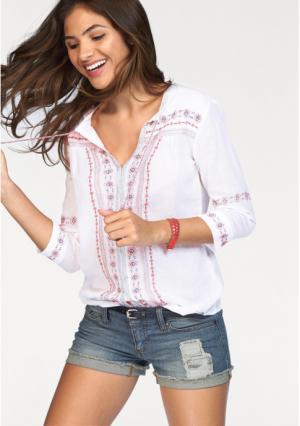 Блузка AJC. Цвет: белый/розовый/синий