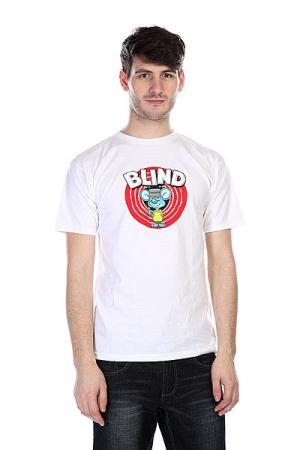 Футболка  Loonely Rat White Blind. Цвет: белый