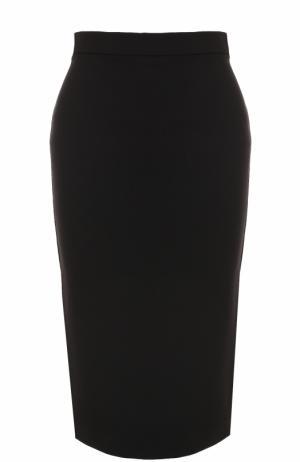 Вязаная юбка-карандаш Theory. Цвет: черный