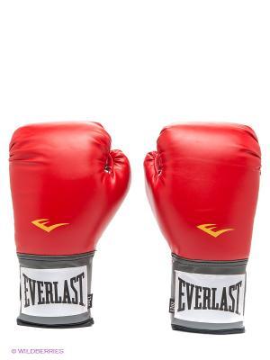 Перчатки тренировочные PU Pro Style Anti-MB Everlast. Цвет: красный