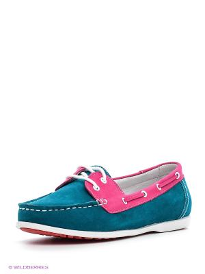 Мокасины MILANA. Цвет: голубой, розовый