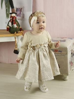 Платье Baby Rose. Цвет: золотистый