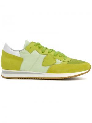 Кроссовки Tropez Philippe Model. Цвет: зелёный